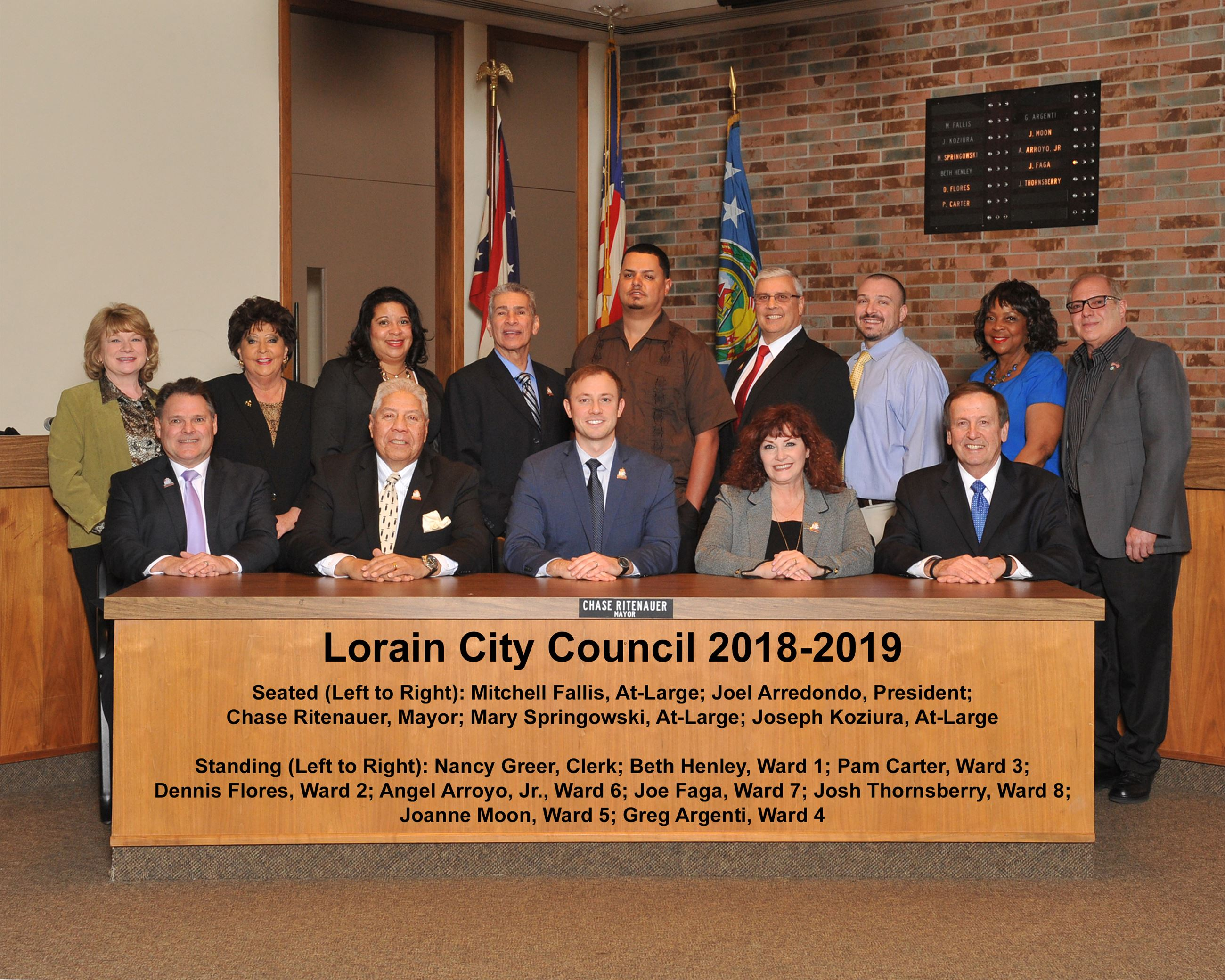 Lorain City Council 2018-19