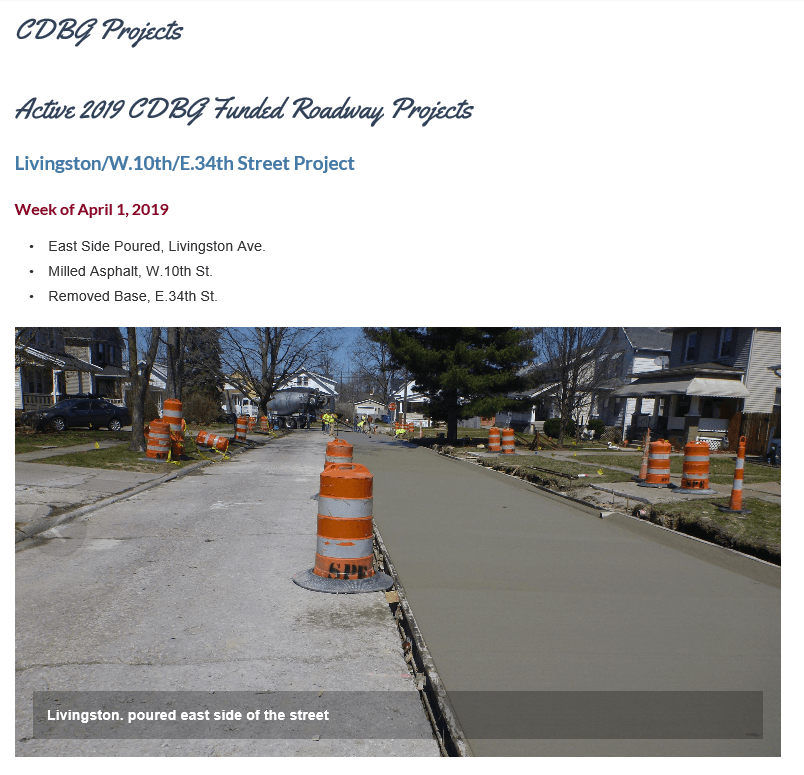 CDBG Roadway Projects